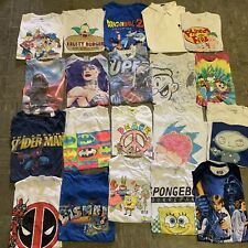 Vintage Wholesale T shirt 20 Lot 00s Bundle Cartoons Disney Nickelodeon Marvel