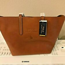 Ralph Lauren Polo Pony  Leather Shopper Brown Handbag $299 Special Edition
