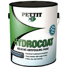 Pettit Hydrocoat Water-Based Ablative Antifouling Bottom Paint Black Gallon 1840
