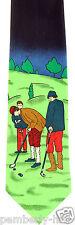 On The Golf Course Mens Necktie Ball Club Golfing Golfer Novelty Neck Tie