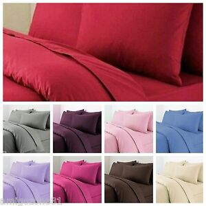 Luxury Plain Duvet/Quilt Cover Set With Pillow Cases and 100% free delivery