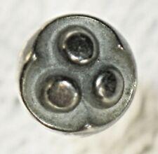 Vintage ART DECO Ball Shaped HATPIN Unique HAT Stick Pin SILVER Tone 3 Dots
