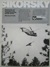 12/1980 PUB SIKORSKY CH-53E MARINES HEAVYWEIGHT LIFTER CANON ORIGINAL AD