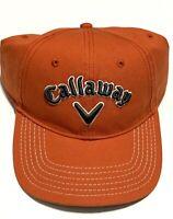 Callaway Golf Hat Cap Orange Strapback Hat Cap Adjustable