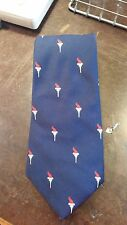 Vintage Olympic Torch Navy Red Wide Novelty Designer Mens Necktie Free Shipping