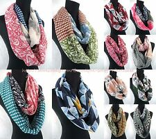 US SELLER-lot of 6 wholesale scarf women vintage boho retro infinity scarf