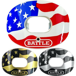 Battle Sports Science Chrome American Flag 2.0 Oxygen Lip Protector Mouthguard