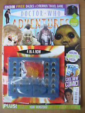 DOCTOR WHO ADVENTURES ISSUE No 9 WITH FREE GIFT DALEKS v CYBERMEN TRAVEL GAME