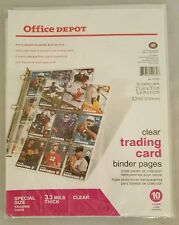 """10 pages Trading Card Binder, 8 1/2"""" x 11"""".  Clear. Coupon Holder 9 Pockets each"""
