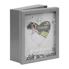Erinnerungsbox zur Kommunion mit Fotorahmen - Gravurfähig