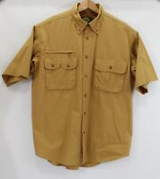 Cabela's mens Large Button Down Shirt Outdoor Gear Vented Short Sleeve Pockets
