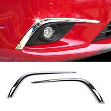 For Mazda 6 Atenza 2014 2015 Chrome Front Fog Light Cover Trim Eyebrow Molding