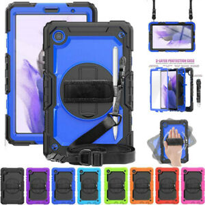 For Samsung Galaxy Tab A7 Lite 8.7 T220 Shockproof Rugged Stand Strap Case Cover