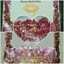 Limited Edition Glitter Mix~ROSE GOLD MIX* Comes W Alloy~ Acrylic Nail~Nail Art