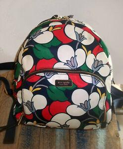 NWOT w 1 flaw -- Kate Spade NY Medium Floral Nylon Backpack $279
