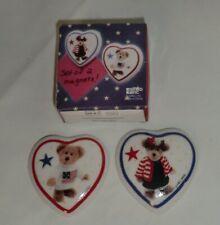 "Boyds' ""Hometown"" Bears Ceramic Magnets Set of 2 #2641 Mib"