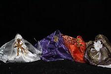 "653 SET 4 WEARING MINI DRESS STATUES SANTA MUERTE 2.5"" Holy Death"