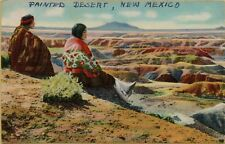 VTG Hopi Indians on the Edge of the Painted Desert in New Mexico NM Postcard