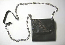 Harley-Davidson Crossbody Purse, Black Leather, Wing Design, Brand New