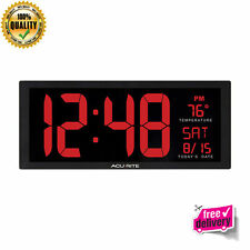 New Date and Fold Stand Big Digital Wall Clock Large Display For School Office