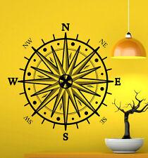 Nautical Compass Wall Decal Vinyl Sticker Navigation Interior Art Decor (8coo2)