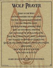 WOLF PRAYER Shaman Animal Spirit Poster Art 8 1/2X11 NATIVE AMER Celtic Wicca