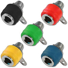 Panel de chasis de plátano Socket Hembra Conector de Altavoz Rojo Negro Verde Azul Amarillo