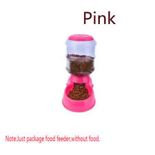 Automatic Pet Feeder Dog Cat Programmable Animal Food Bowl Auto Dispenser Pink