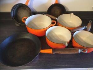 Le Creuset Volcanic Orange Saucepan Set