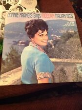 CONNIE FRANCIS sings modern italian hits LP VG+ E-4102 Vinyl 1962 Record Mono