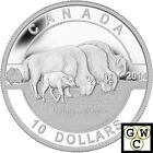 2014 'Bison - O Canada' Proof $10 Silver Coin .9999 Fine *Tax Exempt (14001)