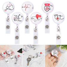 Office Supplies Retractable Badge Holder Lanyards Key Ring Nurse ID Name Card