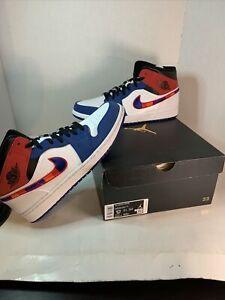 Size 12 - Jordan 1 Mid Multicolored Swoosh New In Box