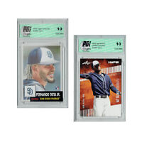Fernando Tatis Jr. 2018 Leaf HYPE & 2019 Topps Living Rookie Card 2-Pack PGI 10