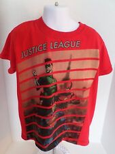 Youth Red Short Sleeved Justice League T-Shirt size-S DC Comic's 100% Cotton