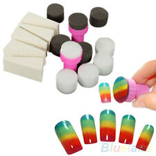 1 Set Nail Art Sponge Stamp Stamper Shade Transfer Template Polish Manicure Tool