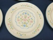 """1992 Newcor """"COUNTRY CHARM"""" Stoneware Bread/Salad Plates Set of 6 B138"""