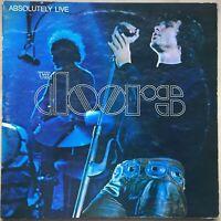 DOORS ABSOLUTELY LIVE 1ST PRESS 1970 UK ELEKTRA DOUBLE VINYL LP 2409-003