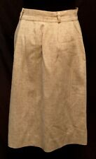 Vintage 1950's Tan Light-Weight Wool (?) Pencil Skirt