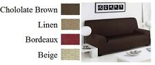 2 Seater Linen Easy Fit Stretch Elastic Fabric Chair Sofa Settee Slip Cover