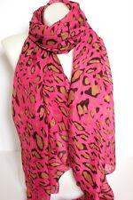 Nuevo Hot Pink Leopard Print grandes Maxi Bufanda Chal Pareo Envío rápido