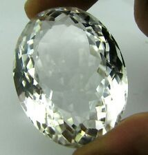 TOP RARE A++ 281.5CT NATURAL CLEAR CRYSTAL QUARTZ OVAL FACETED FINE GEMSTONE