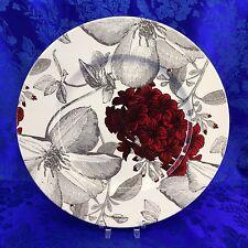 "Andrew Tanner England Porcelain Red Clematis 12"" Serving Platter Floral Plate"