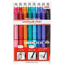Mitsubishi Uni Ball Re Re Erasable Gel Ink Rollerball Pen 05mm 8 Color Japan