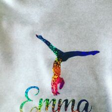 ~NEW PERSONALISED SILVER CHALK/GRIP BAG~  Lycra Gymnastics Hand Guard Dance