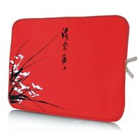 "Laptop Notebook Tablet Tasche Sleeve Hülle  Neopren 33,8cm (13,3"" Zoll) rot"