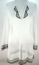 EUC $119 TOMMY BAHAMA Womens BEACH COVER UP CROCHET Tunic LINEN Dress Sexy sz M