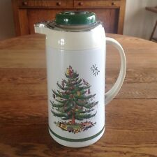 SPODE CHRISTMAS TREE 1 LITER THERMAL CARAFE FOR HOT OR COLD BEVERAGES EUC