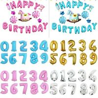 "16""32"" Silver Gold Numbers A-Z Foil Balloon Wedding Celebration Party Decor"