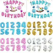 "32"" 16""Number Foil Balloons Digit Helium Ballons Birthday Wedding Party Decor"